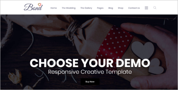 Wedding Site HTML5 Template
