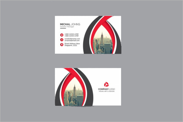 White Business CardMockup Template