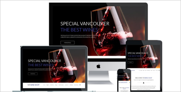 Wine Shop Joomla Template