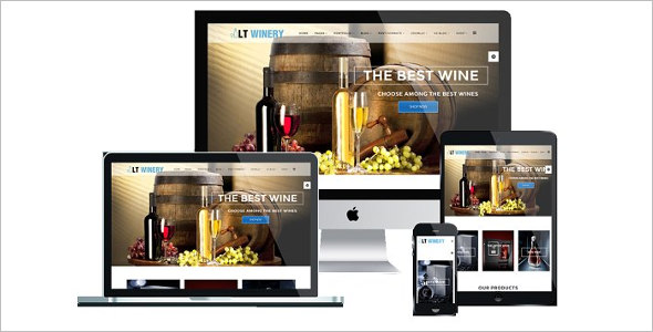 Winery Joomla Template