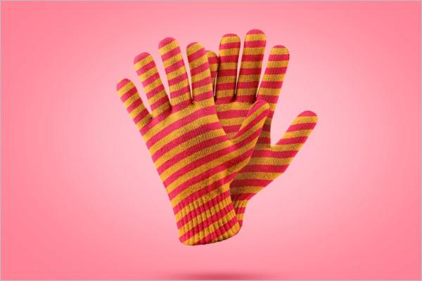 Winter Gloves Mockup Design