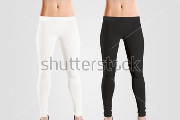 Woman Wear Blank Leggings Mockup Free