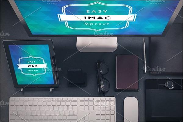Workstation iMac Mockup Template