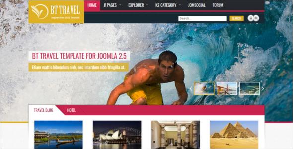 World Travel Joomla Template