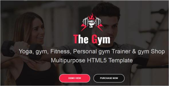 Yoga Gym HTML5 Responsive Template