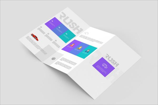 Z-Fold Brochure Leaflet Mockup