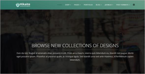 eCommerce Website Joomla Template