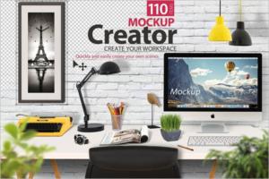 iMac Mockup 2018 Template