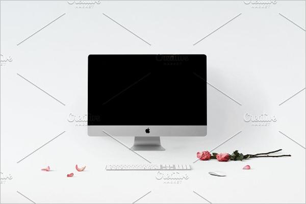 iMac Mockup Design PNG