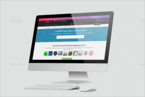 iMac Mockup Template