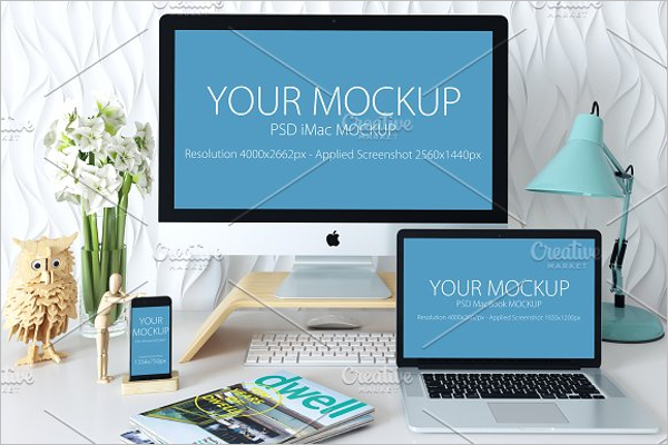 iMac & iPhone Mockup Template
