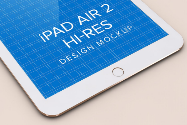 iPad Air Design Mockup