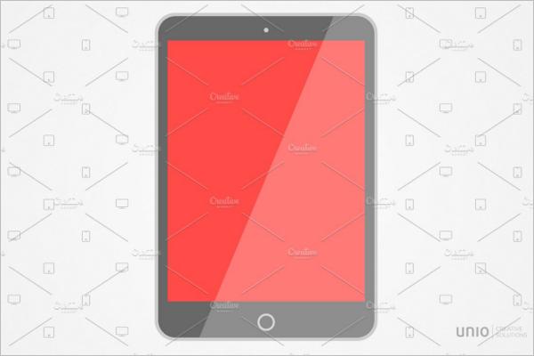 iPad Flat Mockup Design