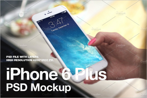 iPhone 6 Plus PSD Mockup Design