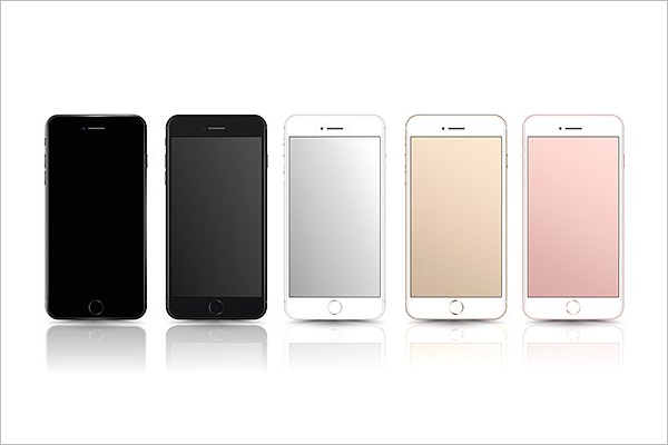iPhone 7 Mockup set Design