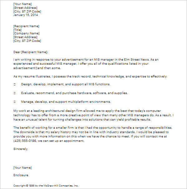 3 Cover Letter Sample For Job Application