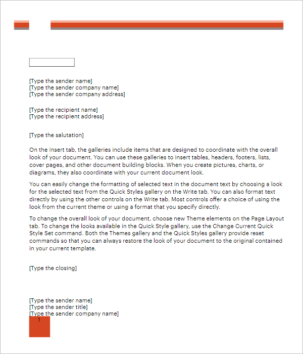 3 Free Format Letter Template