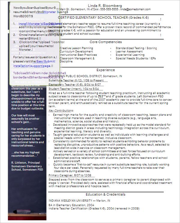 3 Sample Resume Template