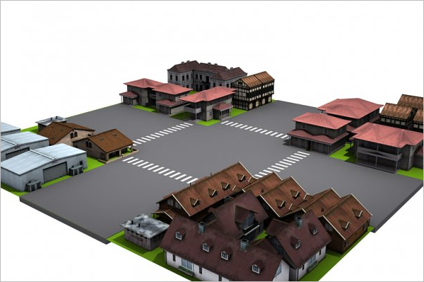 3D Animated House Design Model