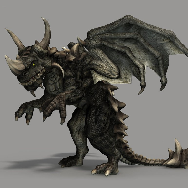 3D Animation Dragon Design