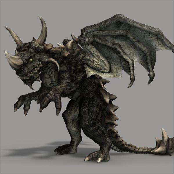 3D Animation Dragon Design