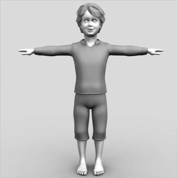3D Boy Maya Model