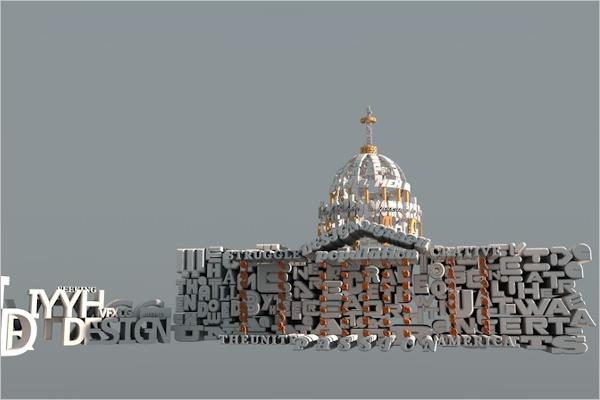 3D Design Wallpaper Model
