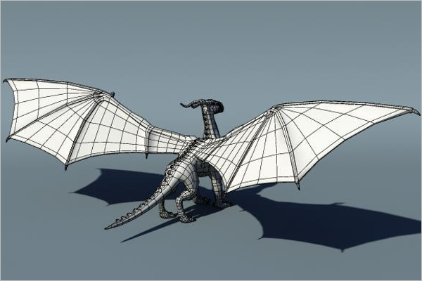 3D Dragon Paper Design