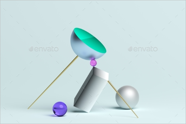 3D Geometric Shape Template