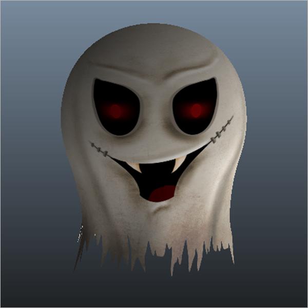 3D Ghost Maya Design