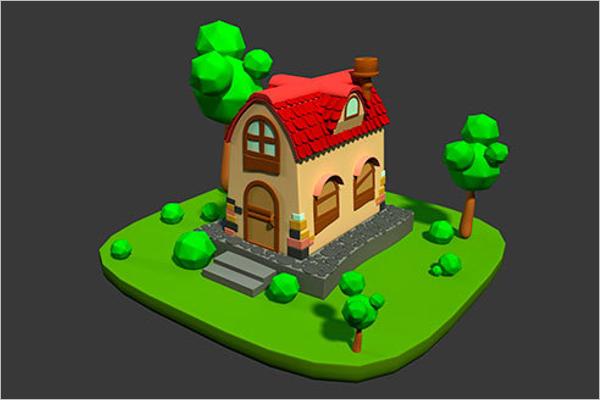 3D Maya Building Moodel