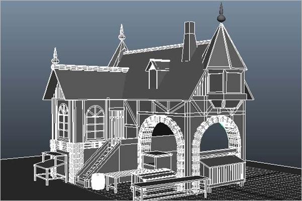 3D Maya House Model