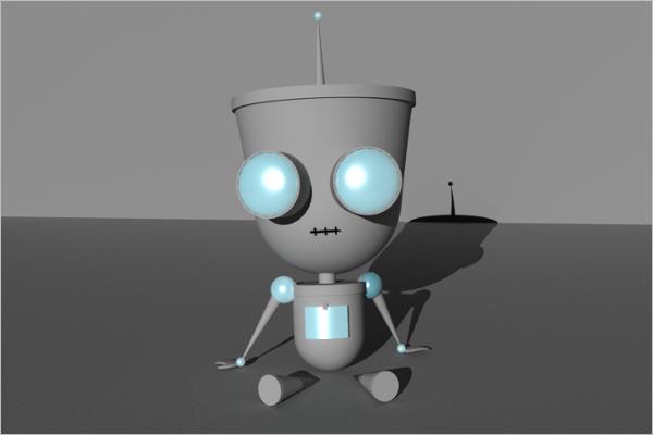 3D Maya Robo Model