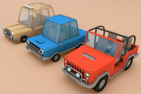 3D Maya Vehicle Model