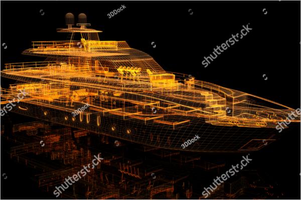 3D Model For Ship