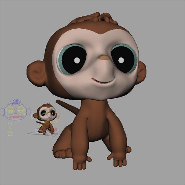 3D Monkey Design Model