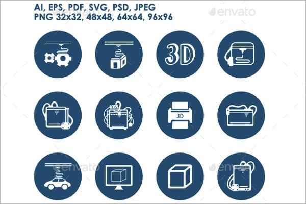 3D Printer Icon Design