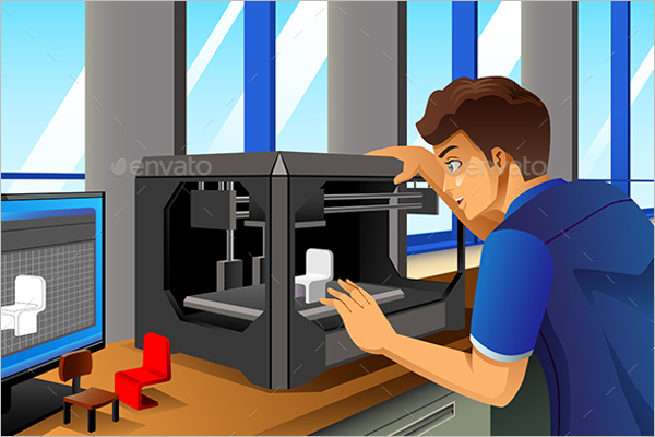 3D Printer Vector Design