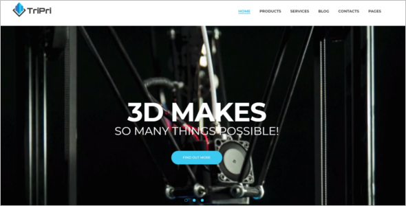 3D Printing Services Website Theme