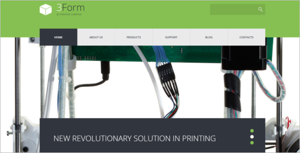 3D Printing Technology Website Template