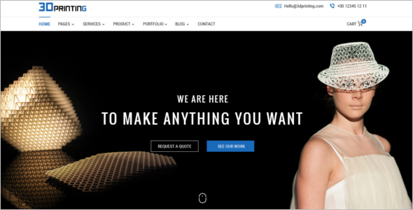 3D Printing Website Template