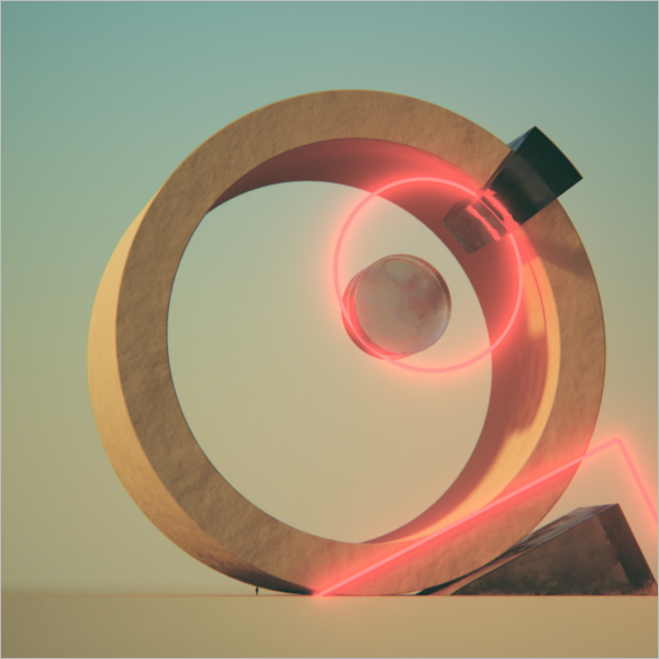 3D Tumblr Digital Art Model