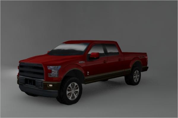 3D Vehicle Maya Model