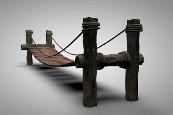 3D Wooden Bridge Design