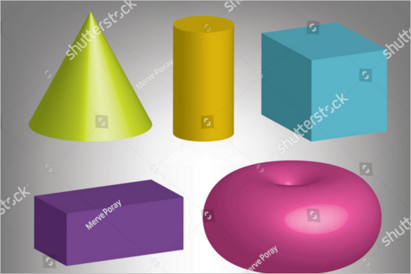 3d Vector Geometric Shapes