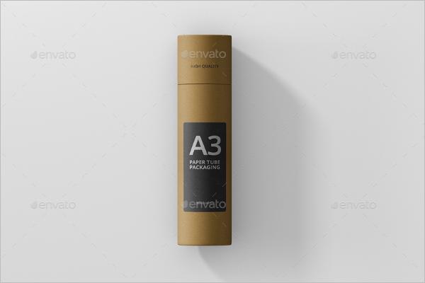 A3 Paper Tube Mockup Design