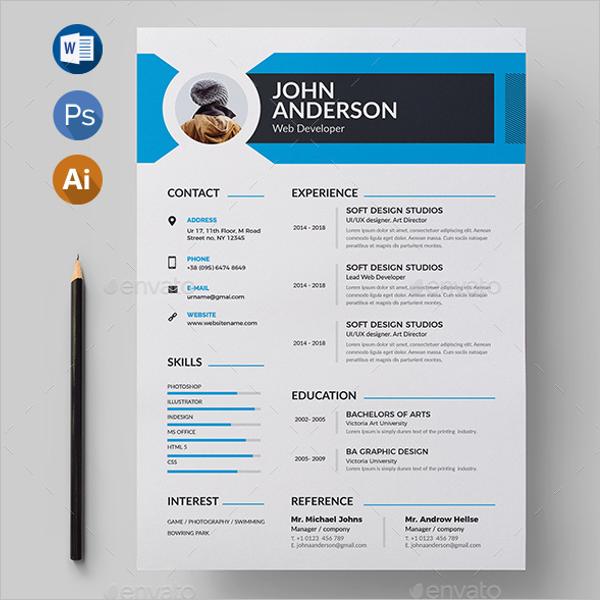 A4 CV Design Template