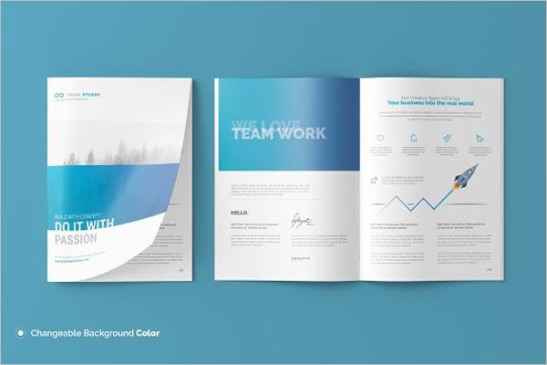 A4 Catalogue Design Template