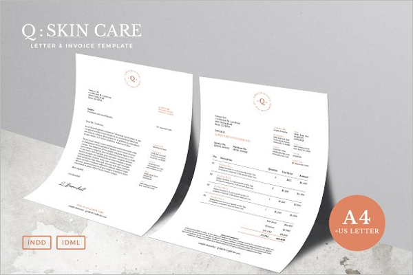 A4 Sales Invoice Template