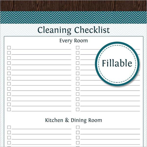 A4 size Checklist Template